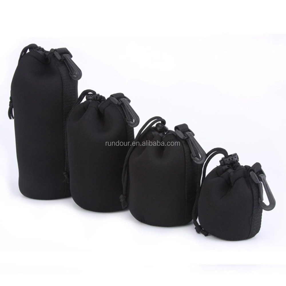 New Arrive Universal Matin Neoprene Waterproof Soft Video Camera Lens Pouch Bag Case Full Size S M L XL For Canon Nikon for Sony