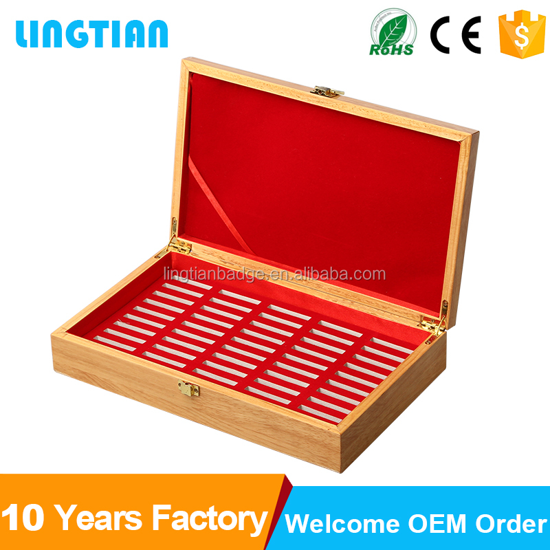 2016 latest arrival popular wooden coin box packing