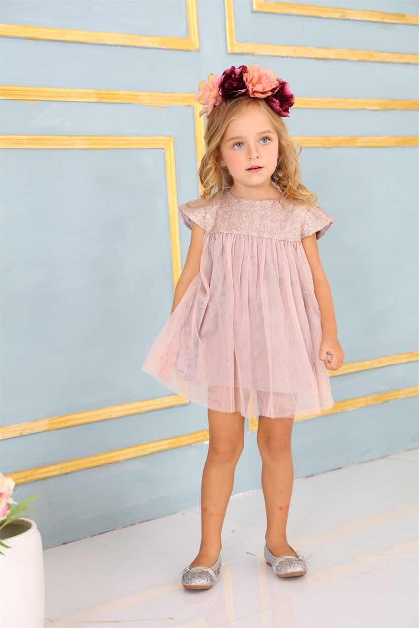 New Fashion Sequin Child Flower Girl Dress Party Birthday Wedding ...