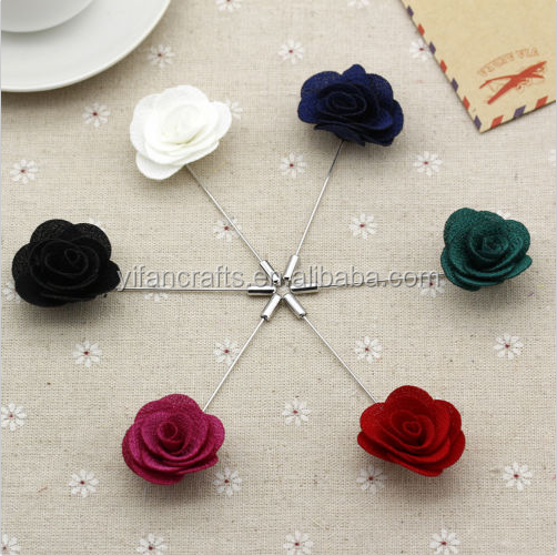 Colorful Lapel Flower Daisy Handmade Boutonniere Brooch Pin Men's Accessories