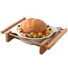 Creative Home Bamboo Cradles and Stoneware Grand Buffet Pie Pan Bakeware Dish