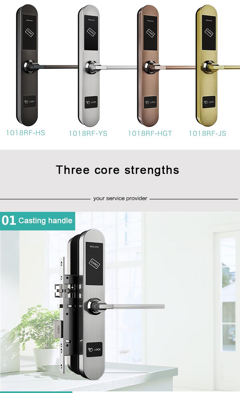 Electronic Swipe Card Door Access Control RFID Card Electronic Smart Hotel Door Lock System Price