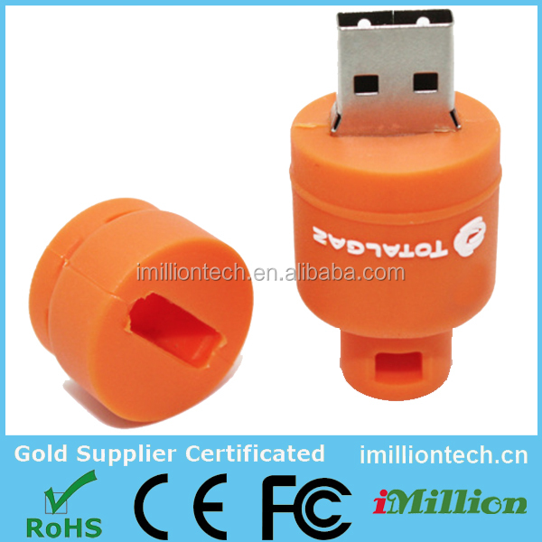Premium Gift Custom Gas Bottle Shaped Bulk USB Flash Drives