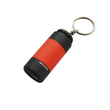 USB plastic rechargeable mini led flashlight for promos