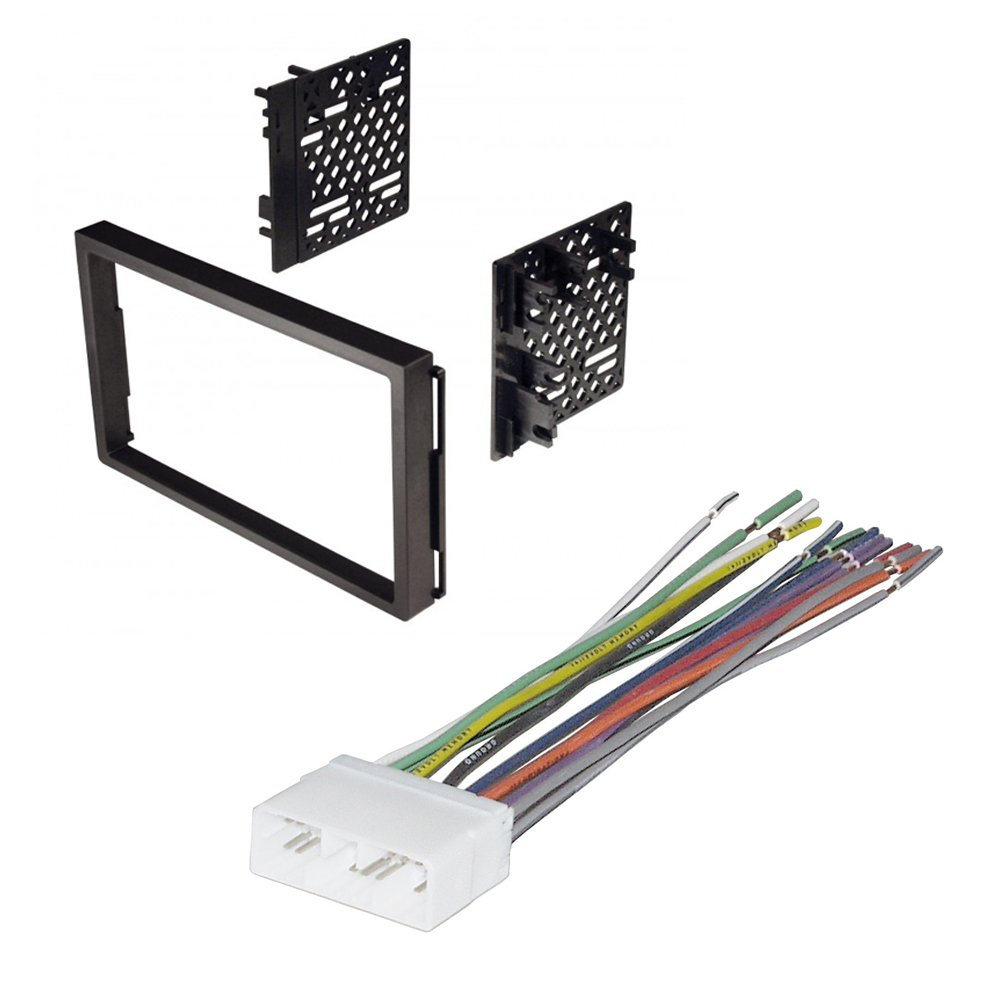 CAR STEREO RADIO KIT DASH INSTALLATION MOUNTING TRIM BEZEL W/ WIRING HARNESS  FOR SELECT CHEVROLET