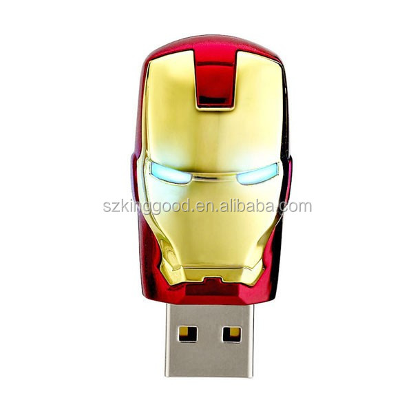 Wholesale Iron man 8G 16G 32G 64gb usb Key usb Ironman flash drive pen drive USB 2.0 flash metal memory stick