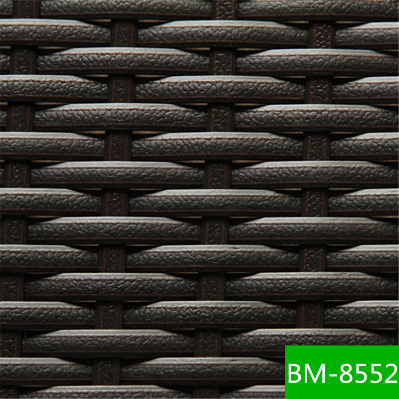 Hight Quality Unique Style Embossed Flat PE Wicker Material For Garden Sets