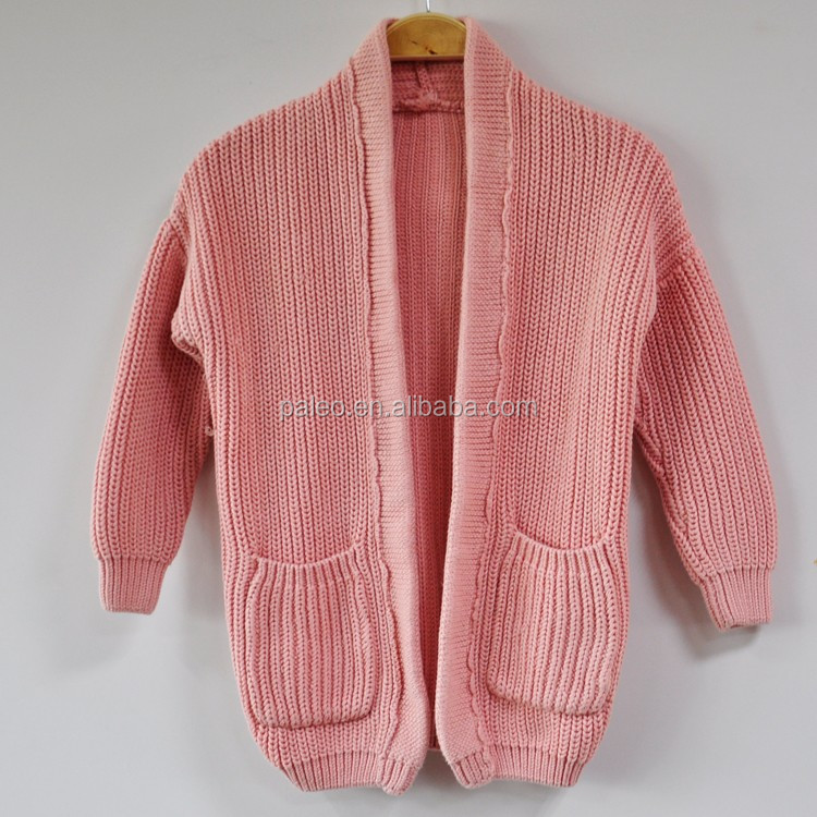 Winter Outer Coat Cotton Sweater 100% Pure Cotton Cardigan Sweater for Girl