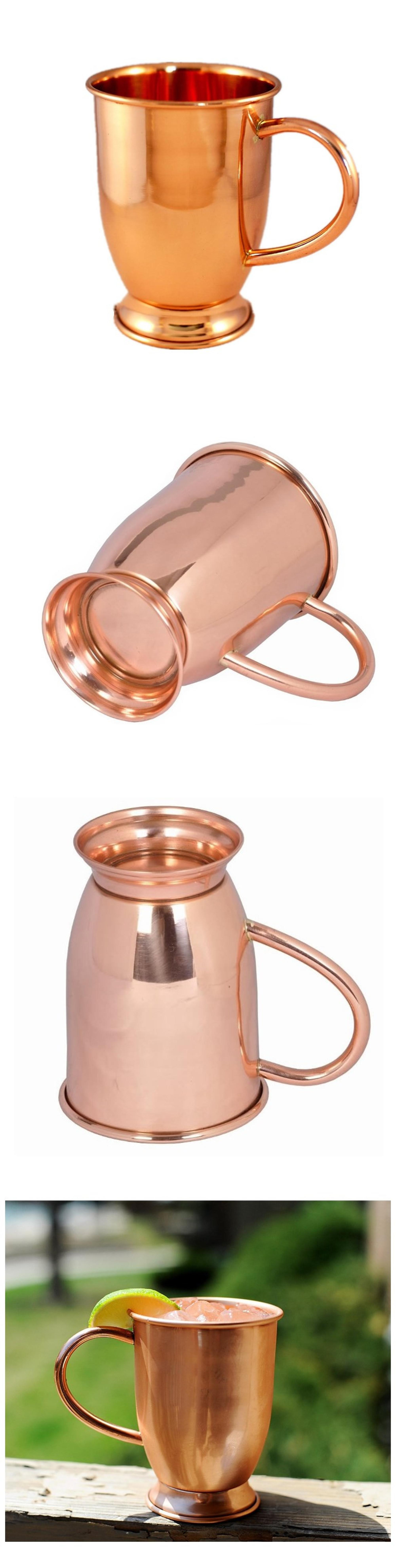 Stainless Steel Martini Julep Cup with Rose Gold Plated