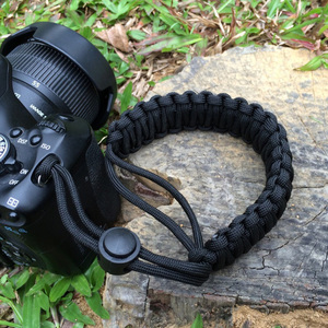 Wholesale Personalized Custom Color Adjustable Nylon Paracord Camera Hand Wrist Strap With Plastic Buckle