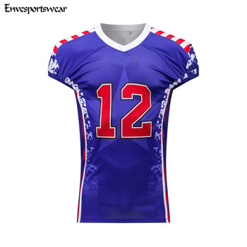 93d152952 Customized Sublimation American Flag Football Uniforms