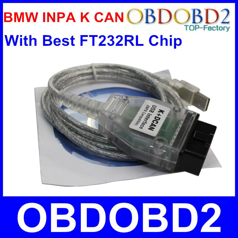 С чипом FT232RL Inpa к может диагностический кабель для BMW Inpa K + DCAN Ediabas к - линия USB OBD2 разъем инструмент PT-CAN