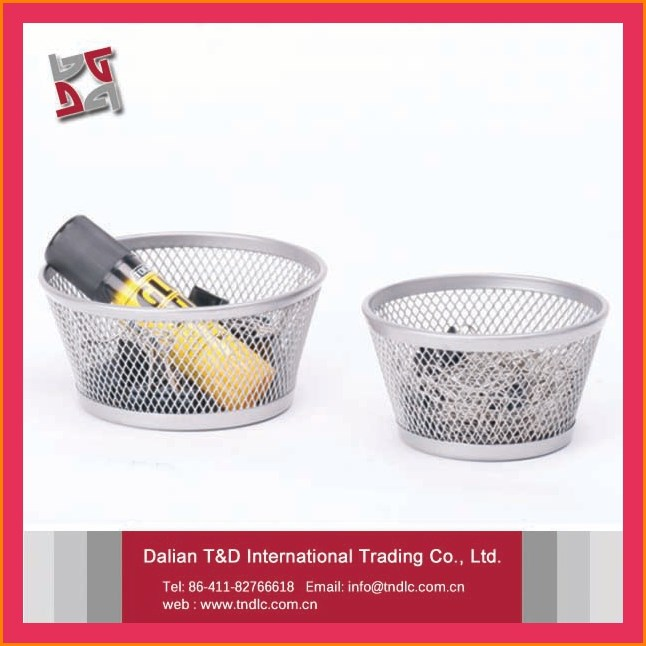 office and school usage desk organizer stationery metal mesh powder coated clip holder