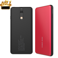 Built in cable portable 10000 power banks 10000 mah powerbank slim mobile phone built-in cable power bank 10000mah with cable