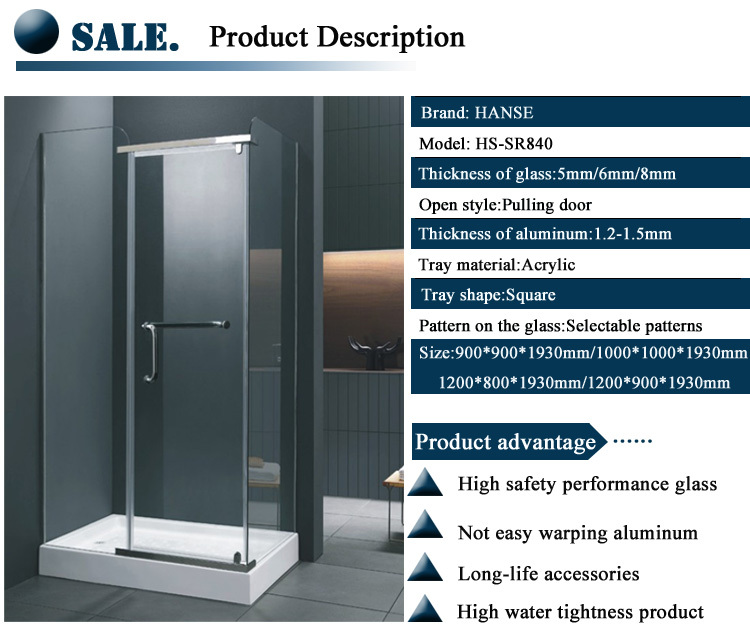 hs sr840 standard size shower room duschkabine shower enclosure shower cubicles price buy. Black Bedroom Furniture Sets. Home Design Ideas