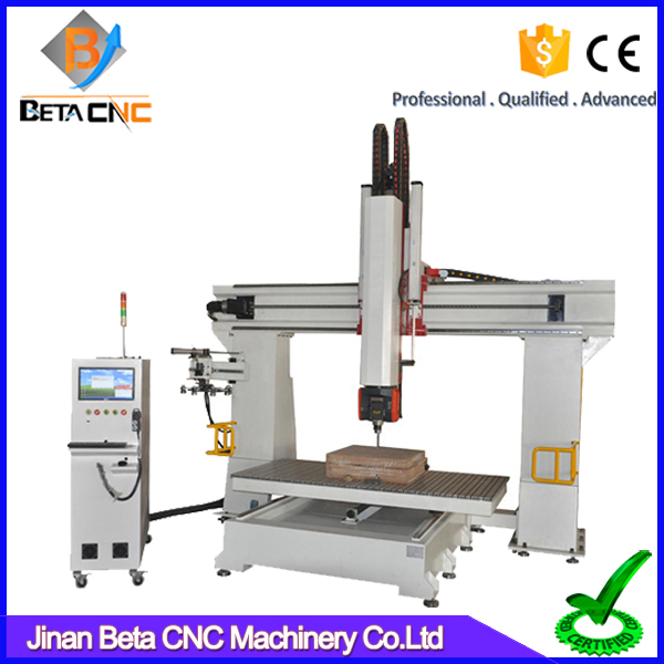 Discount price 5 axis cnc wood carving cutting cnc router, cnc milling machine price for wooden molding