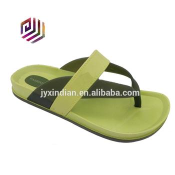 b1b27f43f8573 Green Pvc Flip Flop Shoes Sandals Men 2016