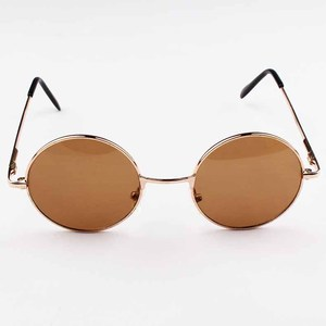 New Brand Designer Classic Round Sunglasses Men Small Vintage Retro