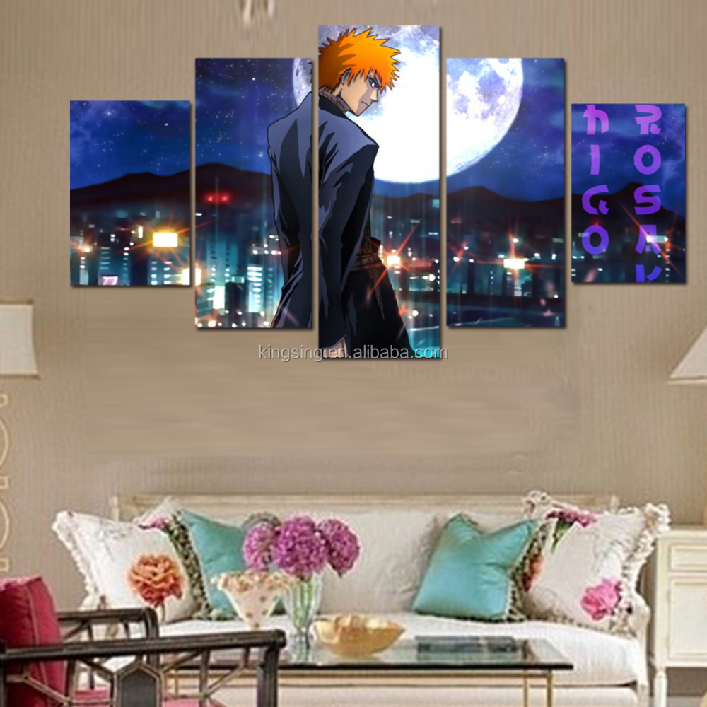 Handsome Anime Characters Printed Canvas Painting Anime Theme 5p Japanese Anime Wall Decor For Room Buy Printed Painting Anime Theme Wall Decor For