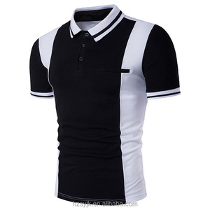 Mens Short Sleeve Plain Polo Shirt Tshirt Top Casual Sports Work Golf Cotton Mix 2018 new spell color