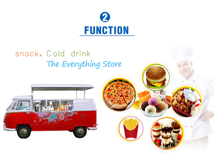 New design Electric mobile VW fast food truck for sale