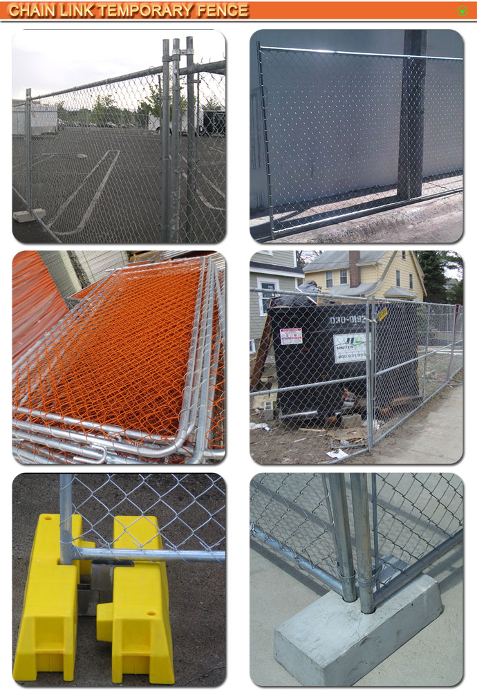 Removable Fence Post 2017 factory new product pvc coated temporary fence panel