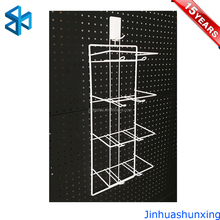 Best price for wall mount shelf cosmetic display stand metal battery display rack