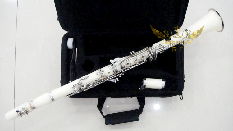Roffee Musical Woodwind instruments 17 keys White ABS Nickel Plated clarinet