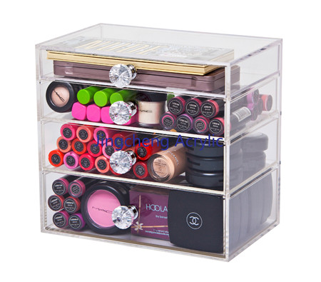 High Grade Clear Acrylic Cosmetic Drawer Storage Organizer, Acrylic Makeup Drawers