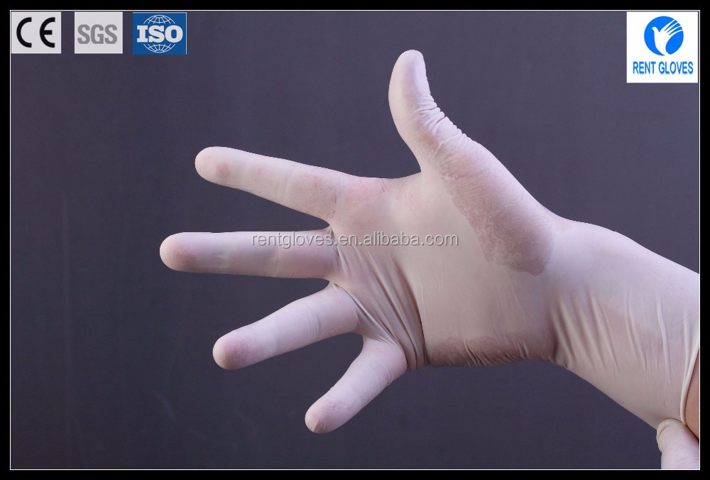 Disposable Powdered/powder free Latex examination Gloves of medical products