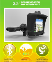 All Terrain 3.5 Inch GPS Navigation System For Motorcycle 'Rage' - IPX7 Waterproof Rating, 4GB Internal Memory, Bluetooth