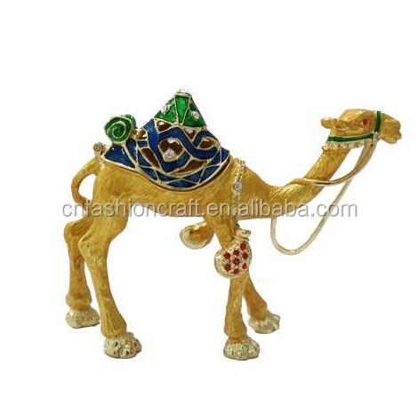 Dubai Camel Trinket Box Wholesale Metal Camel Jewelry Box