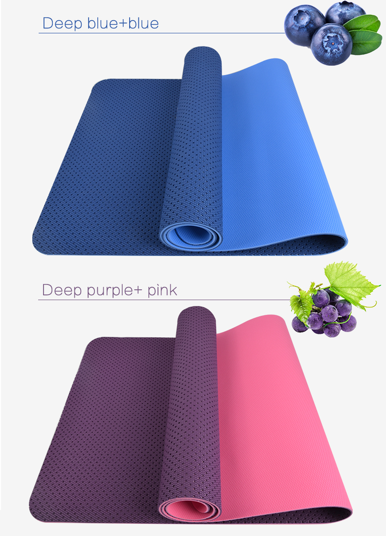 Sunframe yoga mat breathable TPE yoga mat Eco friendly yoga mat exercise gym mat 183x62cm 9pcs/lot free shipping by fedex