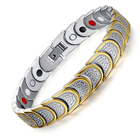New Style Quantum Scalar Energy Pure Titanium Anti- radiation Gold Plated Charm Bracelet