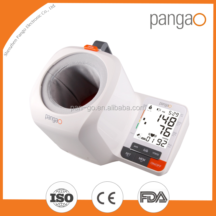 Desktop digital arm blood pressure monitor with CE and FDA