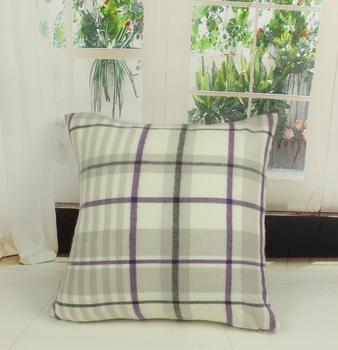 Szplh Acrylic Decorative Sofa Set Tartan Cushions