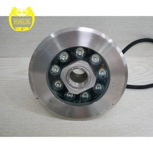 IP68 DC12V/24V 9x1w/9x2w multi-color LED Fountain lamp / underwater light/LED pool lamp