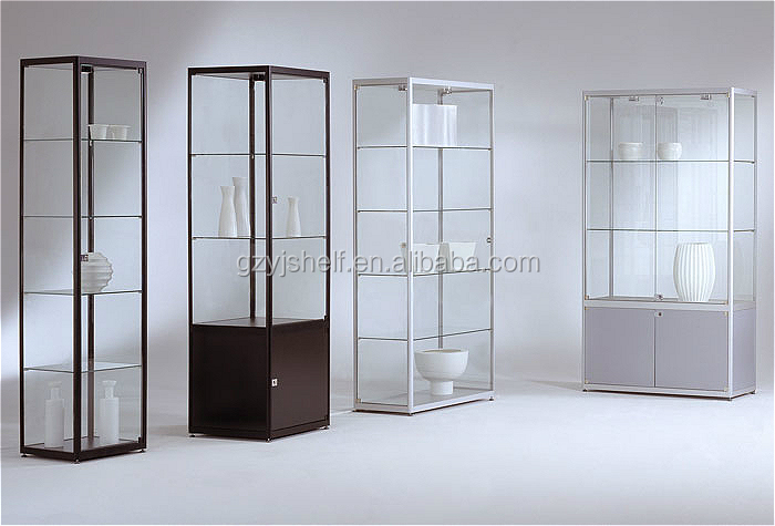 Retail Store Supplies Glass Display Cabinets/locking Glass Display Case/glass  Display Counter Shelves