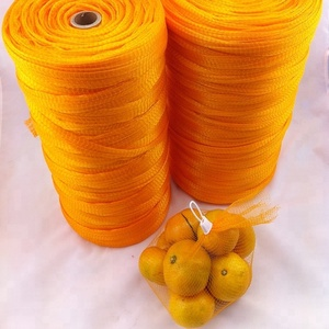 Orange Mesh Plastic Net Bag