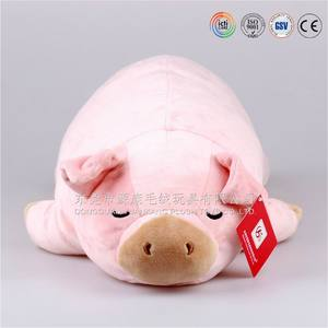2016 wholesale beautiful lovely stuffed pink plush pig