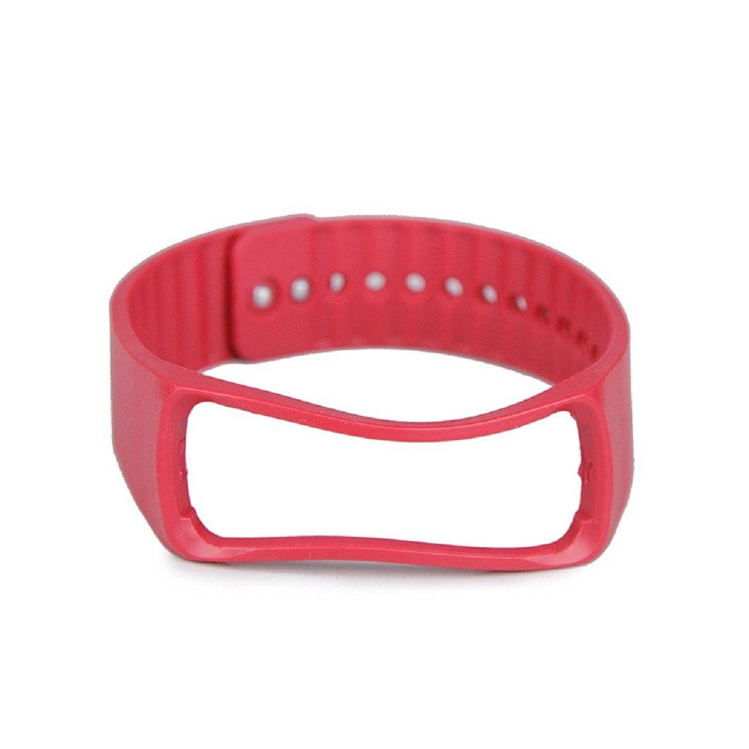 Egmy® Samsung Galaxy Gear Band,Silicone Wristband Smart Wristband Watch Strap Sport Bracelet Band Watch Replacement with Metal Clasps (Red)