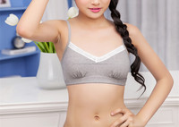 Girls wirefree padded cotton bra cute teen bra teenager underwear
