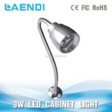 3W Jewelry Display Led Light AC85-265V With Gooseneck Pipe