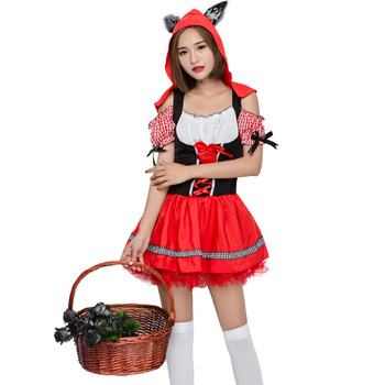 christmas boutique outfit night suits supply women Little Red Riding Hood