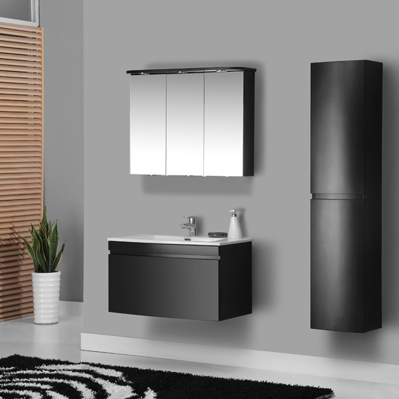 Simble wall mounted european style solid wood acrylic bathroom cabinet from vovsimble sanitary - Solid wood bathroom wall cabinet ...
