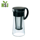 Portable tea infuser glass cold brew coffee iced coffee maker