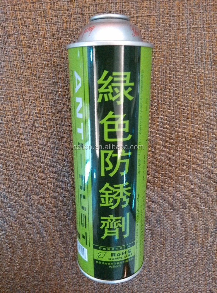 Aerosol can for mold cleaner and antirusting agent