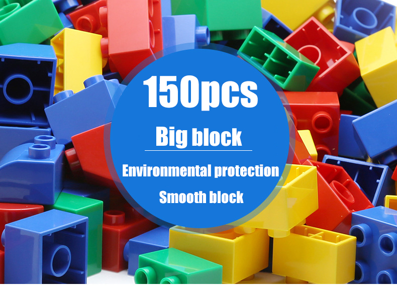 preschool Educational DIY Baby Large Particles Building Blocks Toys for kis