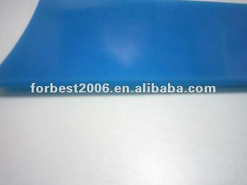High resilience Silicone rubber sheet with blue color 3mm thickness