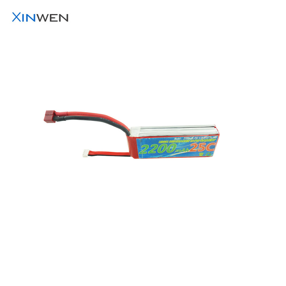 XW 903480 3S1P 25C 11.1v 2200mAh high discharge rate lipo battery